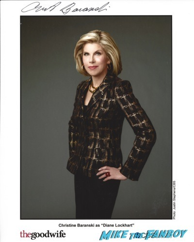 Christine Baranski (2) signed autograph photo