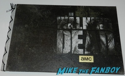 The Walking Dead season 4 press kit Danai Gurira signing autographs for fans jimmy kimmel live dissing people auographs rare   7