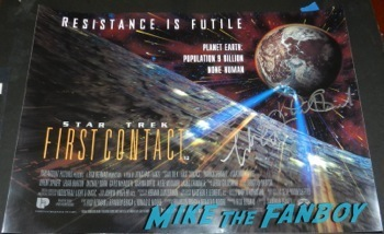 star trek first contact uk quad mini poster Malcolm McDowell q and a star trek generations signing autographs fan photo14