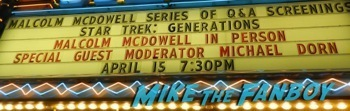 Malcolm McDowell q and a star trek generations signing autographs fan photo4