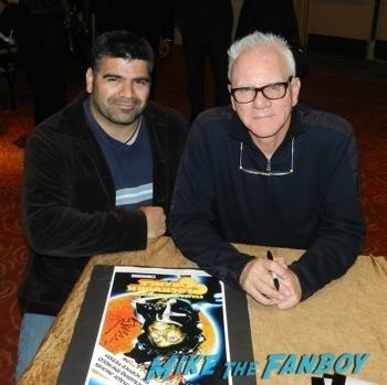 Malcolm McDowell q and a star trek generations signing autographs fan photo8