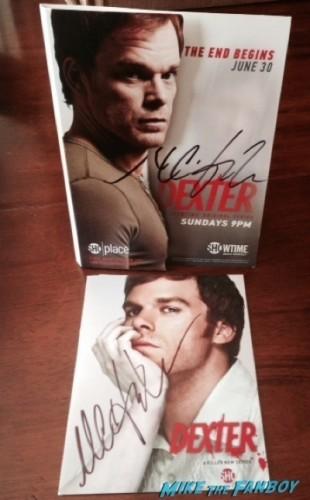 Michael C. Hall Signed autograph dexter magazine2