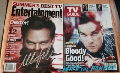 Michael C. Hall Signed autograph dexter magazine2