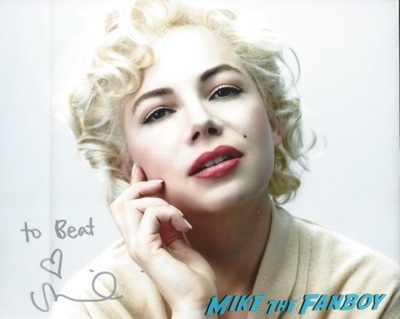 Michelle Williams signed autograph photo rare
