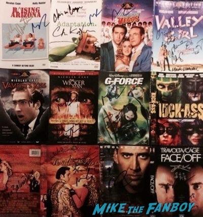 Nicholas cage fan photo signing autographs aero theater 20146