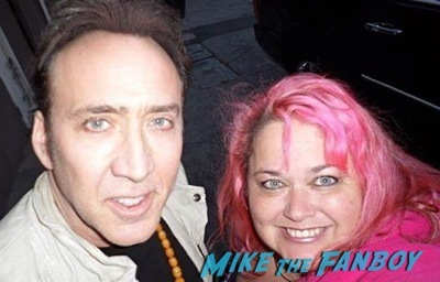 Nicholas cage fan photo signing autographs aero theater 20146