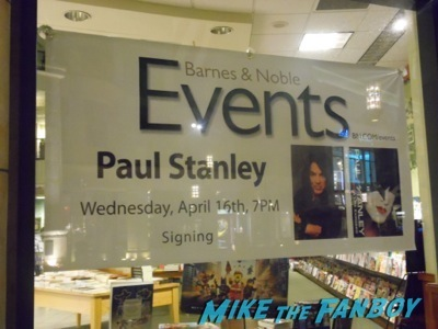 Paul Stanley book signing autograph KISS lead singer1