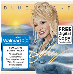 dolly parton blue smoke signed autograph cd sleeve