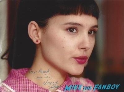 Virginie Ledoyen signed autograph photo rare