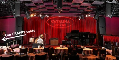 crappy seats at lynda carter catalina jazz club