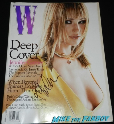 jennifer garner signed w magazine cover