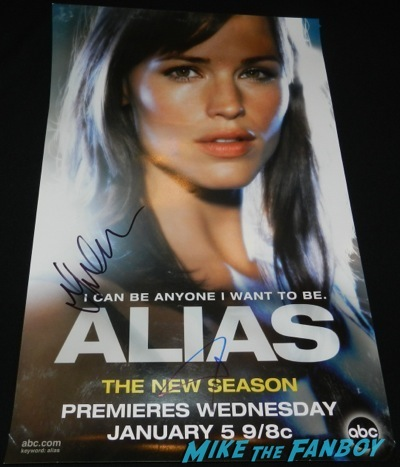 jennifer garner signed autograph alias mini poster