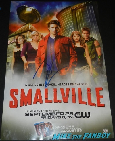 tom welling signed smallville mini poster