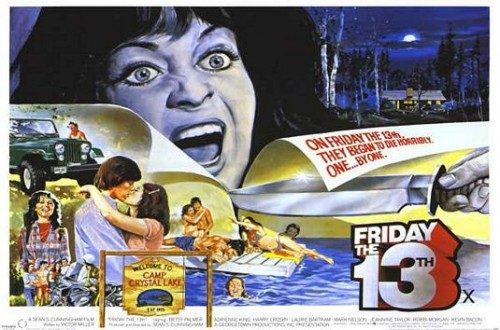 friday the 13th uk quad poster original rare camp crystal lake friday the 13th Friday the 13th logo rare movie poster