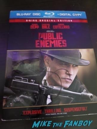 johnny depp public enemies dvd signed autograph signing autographs jimmy kimmel live 20146