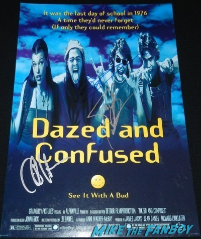 dazed and confused signed autograph poster cole hauser