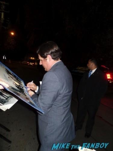 Rich somer signing autographs Mad Men season 7 premiere jon hamm ignores fans