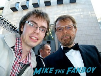 Bjorn Ulvaeus signing autographs olivier awards 2014 signing autographs for fans 14