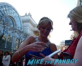 Katherine Kingsley signing autographs olivier awards 2014 signing autographs for fans 17