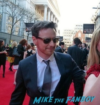 James McAvoy signing autographs olivier awards 2014 signing autographs for fans 5