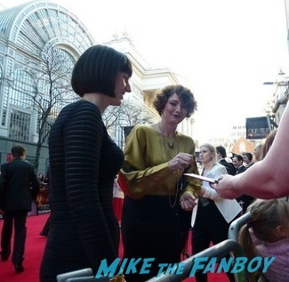 Anna Chancellor signing autographs olivier awards 2014 signing autographs for fans 4