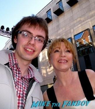 Lesley Manville signing autographs olivier awards 2014 signing autographs for fans 42
