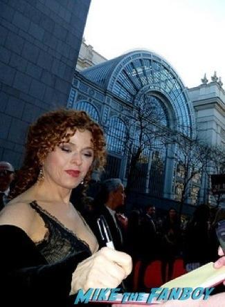 Bernadette Peters signing autographs olivier awards 2014 signing autographs for fans 48