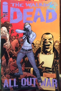 The Walking Dead all out war rare comic book