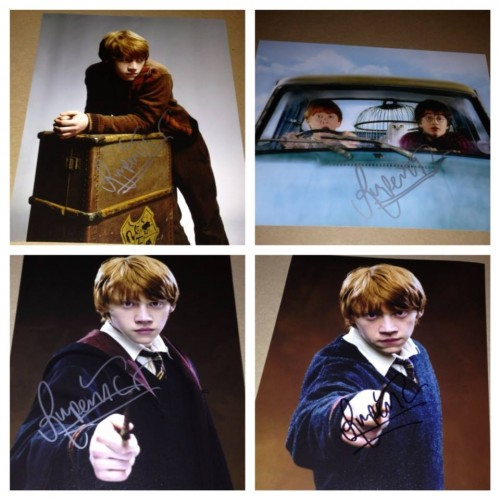 rupert grint signed autograph photos