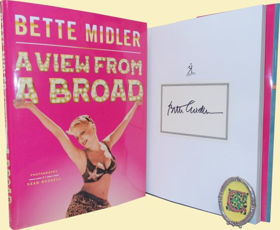 bette midler signed autograph book a view from a broad