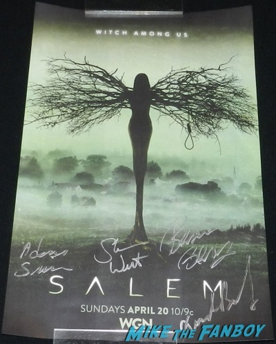 salem cast signed autograph poster wondercon 2014 son of batman salem revolution autograph signing 115