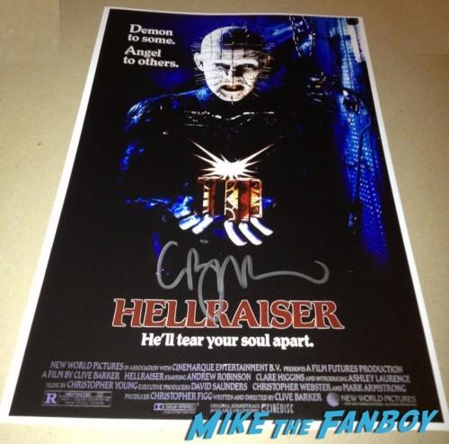 Clive Barker Comic Signing Hellraiser Signing Autographs