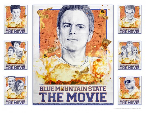 blue mountain state kickstarter poster signed autograph rare