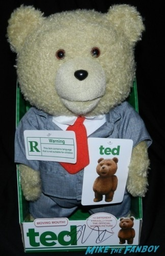 seth macfarlane signed autograph ted talking bear A Million Ways To Die in the west movie premiere signing autographs 37