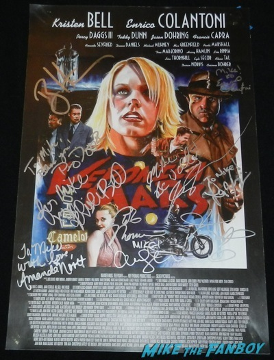 amanda seyfried signed veronica mars mini poster A Million Ways To Die in the west movie premiere signing autographs 35