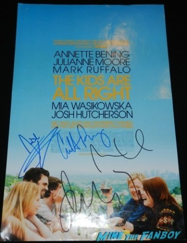 Annette Bening signed autograph the kids are all right mini poster signing autographs geffen westwood the kids are alright      3