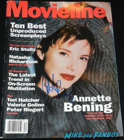 Annette Bening signed autograph movieline magazine signing autographs geffen westwood the kids are alright      6