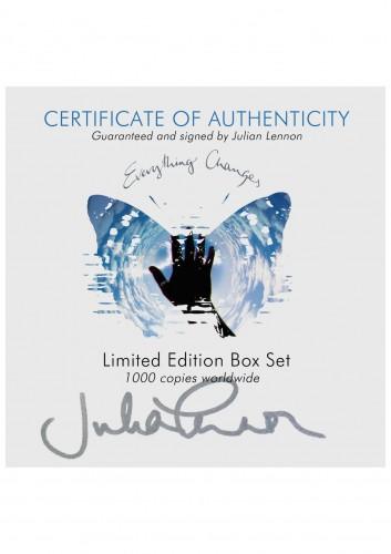 Julian lennon signed autograph boxset