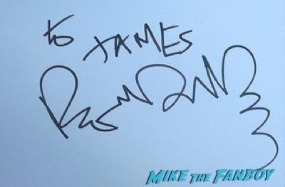 Romain Duris fan photo signing autographs Audrey Tautou signing autographs fan photo rare signed 7
