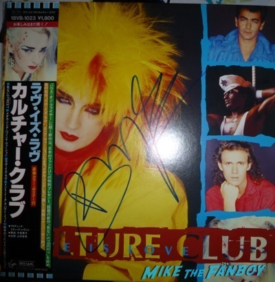 culture club signed autograph japanese import lp Boy George Signing Autographs Jimmy Kimmel Live Signed Culture Club LP1
