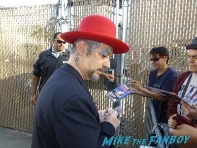 Boy George Signing Autographs Jimmy Kimmel Live Signed Culture Club LP4