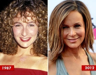 Jennifer-Grey-Nose-Job side by side