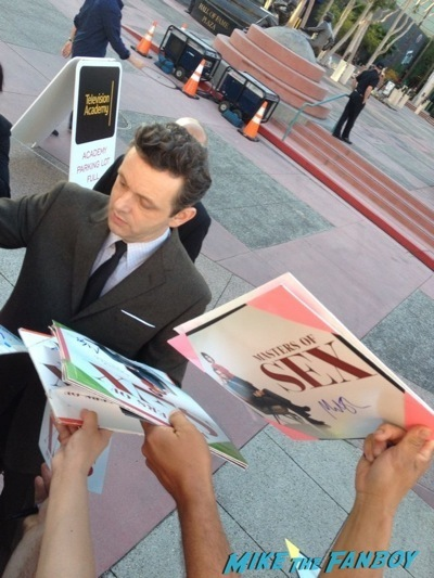 Michael Sheen signing autographs Masters of Sex Televison Academy event signing michael sheen rare 1