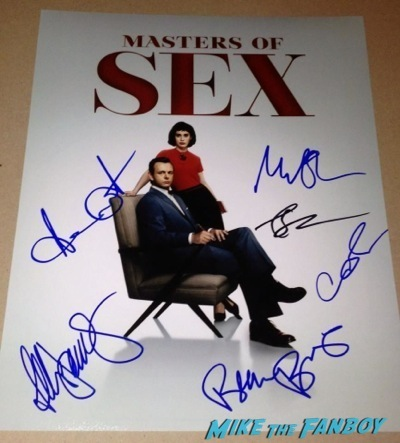 Masters of Sex Televison Academy event signing michael sheen rare 2