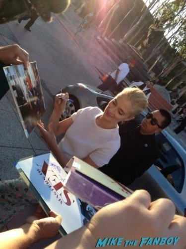 Caitlin Fitzgerald signing autographs Masters of Sex Televison Academy event signing michael sheen rare 12