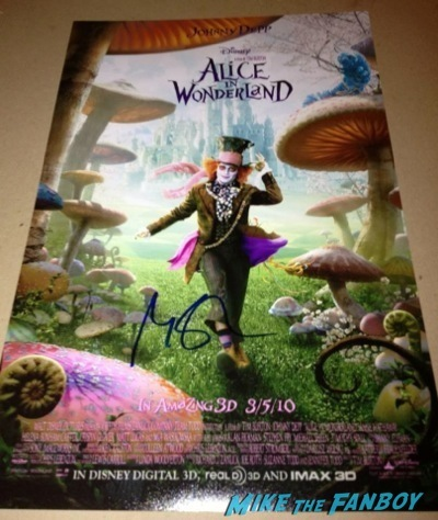 michael sheen signed alice in wonderland poster Masters of Sex Televison Academy event signing michael sheen rare 14