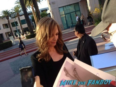 Allison Janney signing autographs Masters of Sex Televison Academy event signing michael sheen rare 5