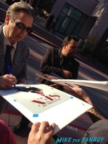 beau bridges signing autographs Masters of Sex Televison Academy event signing michael sheen rare 3