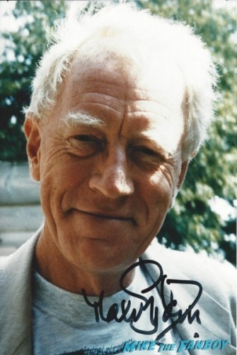 Max von Sydow signed autograph photo rare photo