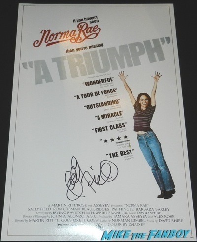 norma rae signed autograph sally field mini poster movie poster